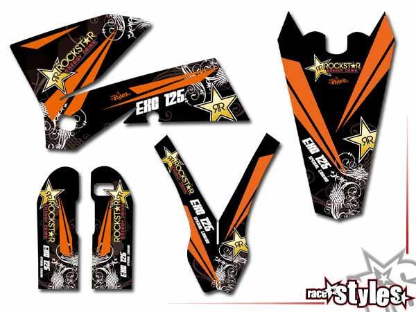 MX-Circuit Basic Dekor-Kit für KTM SX / SX-F (1998-2006) und EXC / EXC-F / SMR (1998-2007) bestehend aus Gabel