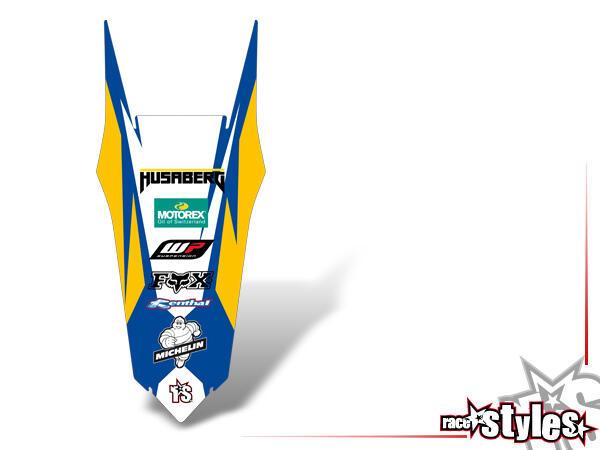 Brandings Heckkotflügel Dekor für HUSABERG FC / FE / TE / FX / FS Modelle ab 2000-2013.
