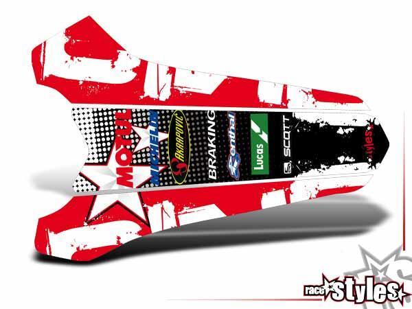 MX-Circuit Heckkotflügel Dekor für HONDA CR / CRF (125 150 250 450) Modelle 1990-1999, 2000-2020.