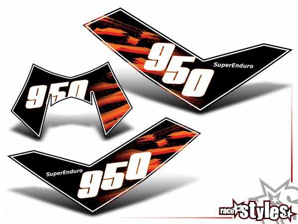 Startnummernfelder Dekor-Kit für KTM 950 SuperEnduro 2006-2008.