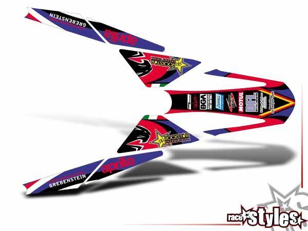 Factory-MX Heckkotflügel Dekor für APRILIA SXV / RXV / MXV / 450-550 Modelle.