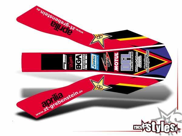 Factory-MX Kotflügel Dekor für APRILIA SXV / RXV / MXV / 450-550 Modelle.
