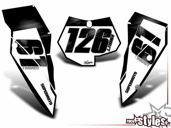 R.I.P.forever Startnummernfelder Dekor-Kit für KTM SX / SX-F (2007-2010) und EXC / EXC-F / SMR (2008-2011). inkl.