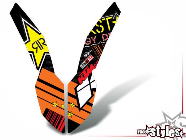 MX-Circuit Kotflügel Dekor für KTM SX / SX-F (2007-2010) und EXC / EXC-F / SMR (2008-2011).