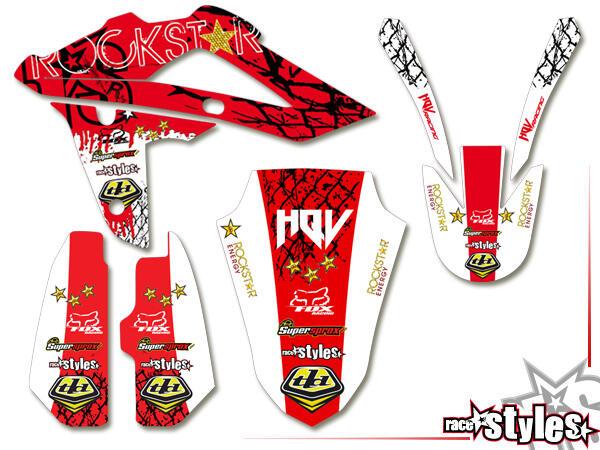 Graffiti-FX Basic Dekor-Kit für HUSQVARNA SM / SMR / WR / WRE / CR / TC / TE Modelle ab 2000-2013 bestehend aus