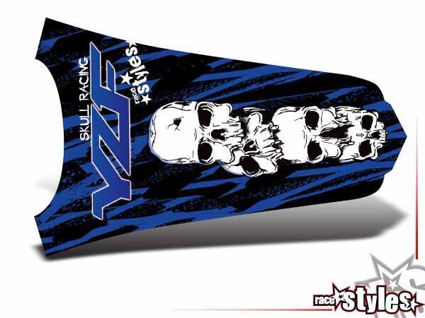 Skull-FMX Heckkotflügel Dekor für YAMAHA YZ / YZF / WRF (125 250 450) Modelle 1990-1999, 2000-2020.