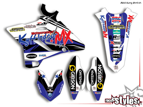 Basic Dekor-Kit für YAMAHA YZ / YZF / WRF (125 250 450) Modelle 1990-1999, 2000-2020 bestehend aus