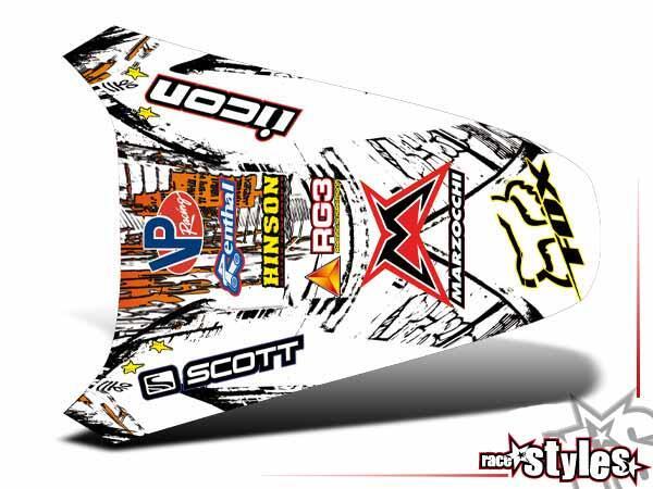 Graffiti-FX Heckkotflügel Dekor für KTM SX50 2002-2015 / SX65 2000-2015 / SX85 2000-2012.