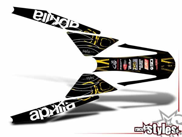 Factory-MX Heckkotflügel Dekor für APRILIA SXV / RXV / MXV / 450-550 Modelle.Individuelle Veränderungen, wie F