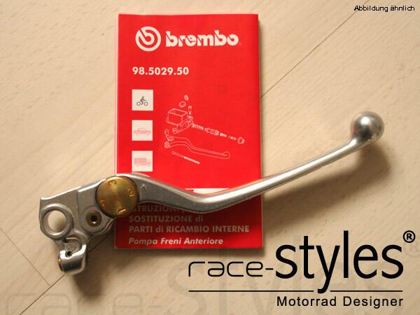 Brembo Bremshebel kalt-geschmiedet und dadurch um ein vielfaches robuster als billige Standardhebel