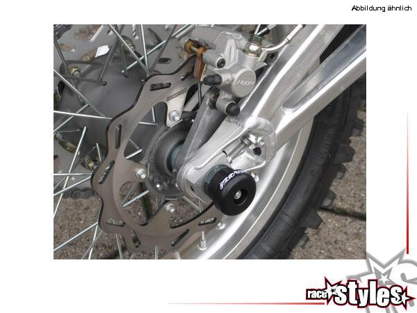 GSG axle slider (rear). Available for all Aprilia SXV / RXV models.