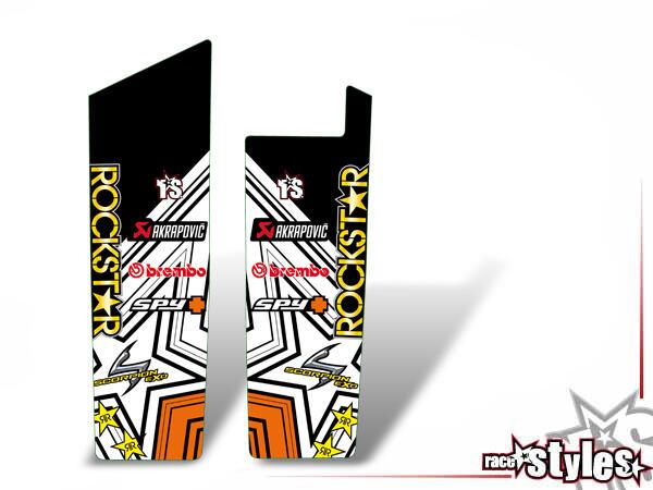 Rockstar-MX Gabelprotektoren Dekor li./re. für KTM 690 SMC / SMC-R / ENDURO (2008-2017).