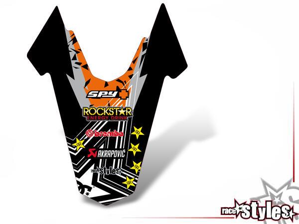 Rockstar-MX Heckkotflügel Dekor für KTM 690 SMC / SMC-R / ENDURO (2008-2017).