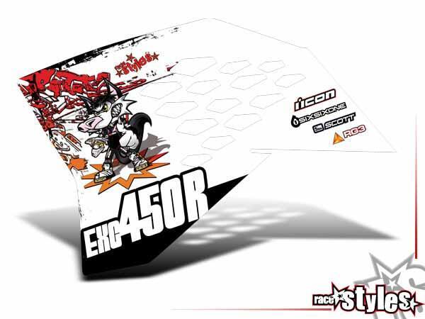 Graffiti-FX Kühlerspoiler Dekor li./re. für KTM SX / SX-F (2007-2010) und EXC / EXC-F / SMR (2008-2011).