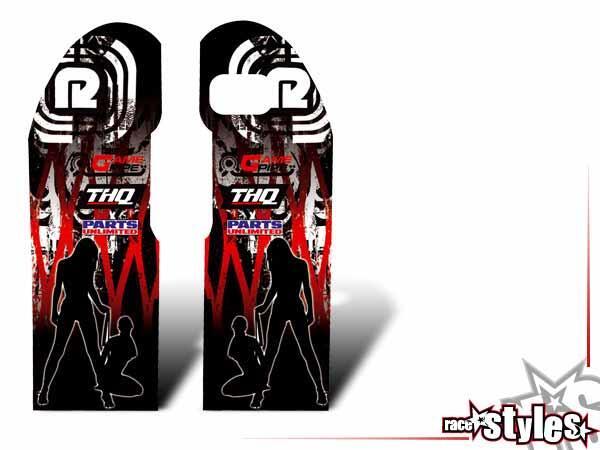 Graffiti-FX Gabelprotektoren Dekor li./re. für KTM SX / SX-F (1998-2006) und EXC / EXC-F / SMR (1998-2007).