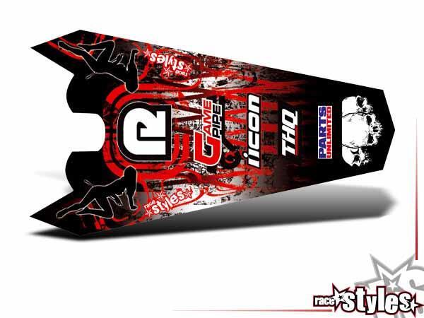 Graffiti-FX Heckkotflügel Dekor für KTM SX / SX-F (1998-2006) und EXC / EXC-F / SMR (1998-2007).