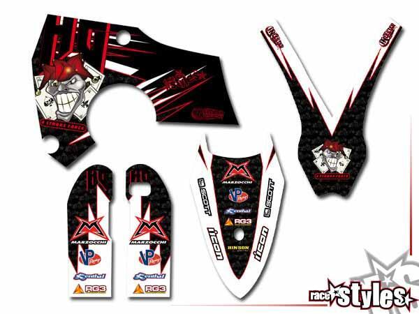 Joker-FX Basic Dekor-Kit für HUSABERG FC / FE / TE / FX / FS Modelle ab 2000-2013 bestehend aus Gabel li./re