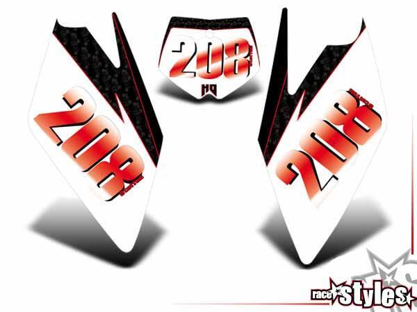 Joker-FX Startnummernfelder Dekor-Kit für HUSABERG FC / FE / TE / FX / FS Modelle ab 2000-2013.