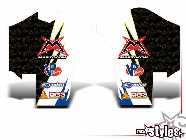 Joker-FX Gabelprotektoren Dekor li./re. für HUSABERG FC / FE / TE / FX / FS Modelle ab 2000-2013.