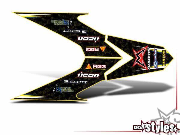 Joker-FX Heckkotflügel Dekor für HUSABERG FC / FE / TE / FX / FS Modelle ab 2000-2013.