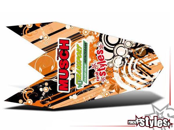 Graffiti-FX Heckkotflügel Dekor für KTM SX / SX-F (2007-2010) und EXC / EXC-F / SMR (2008-2011).