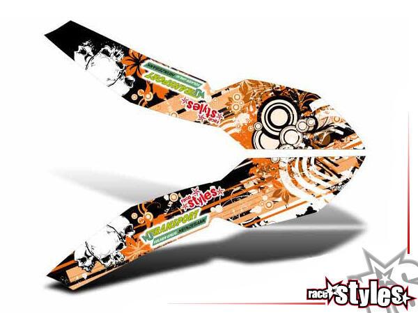 Graffiti-FX Kotflügel Dekor für KTM SX / SX-F (2007-2010) und EXC / EXC-F / SMR (2008-2011).