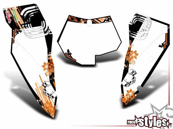 Graffiti-FX Startnummernfelder Dekor-Kit für KTM SX / SX-F (2007-2010) und EXC / EXC-F / SMR (2008-2011). inkl.