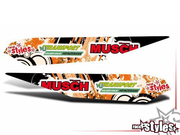 Graffiti-FX Schwingen Dekor li./re. für KTM SX / SX-F (2007-2010) und EXC / EXC-F / SMR (2008-2011).