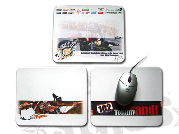 Für den ganz individuellen Geschmack. Gestalte dein persönliches Mousepad. Name, Startnummer und in