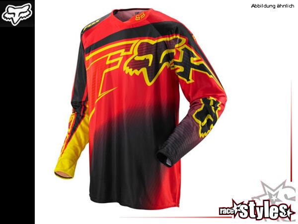 FOX 360 Flight Jersey. Hauptkörper aus Polyester mit Mesh Panel im Rückenbereich für verstärkte Luf