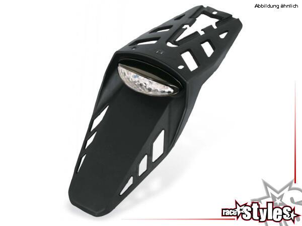 Acerbis Kennzeichenhalterung LED RACE – Kunststoffplatte schwarz / LED Rücklicht weiß, TÜV fähig mi