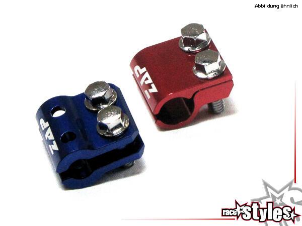 ZAP Bremsleitungshalter für div. Motorradmodelle. Aus robustem Aluminium, verschiedenfarbig eloxier