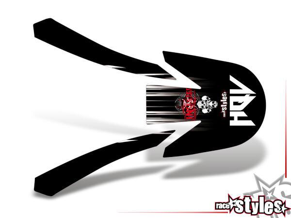 Skull-FMX Kotflügel Dekor für HUSQVARNA SM / SMR / WR / WRE / CR / TC / TE Modelle ab 2000-2013.