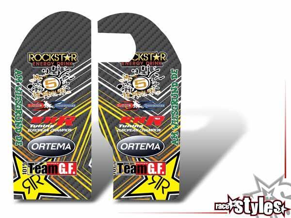 Carbon-LTD. Gabelprotektoren Dekor li./re. für KTM SX50 2002-2015 / SX65 2000-2015 / SX85 2000-2012.