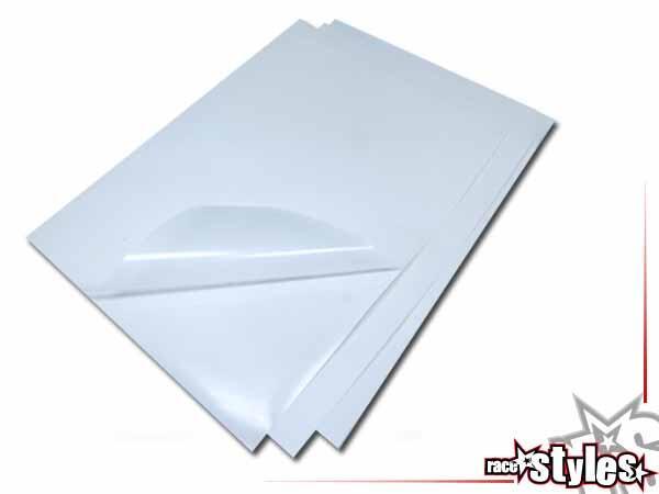 Schutzfolien-KIT (transparent) bestehend aus 3 extrem belastbaren Crystall-Foliestücken. Ultimative
