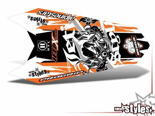 Skull-FMX Heckkotflügel Dekor für KTM SX / SX-F (2011-2012, 2013-2015) und EXC / EXC-F / SMR (2012-2013, 2014