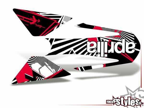 Newline-LTD. Heckkotflügel Dekor für APRILIA SXV / RXV / MXV / 450-550 Modelle.