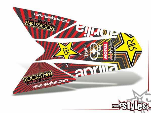 Heckkotflügel Dekor für APRILIA SXV / RXV / MXV / 450-550 Modelle.