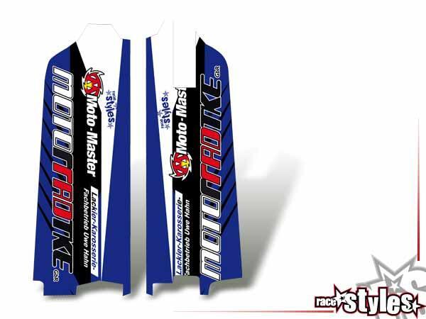 Factory-MX Gabelprotektoren Dekor li./re. für YAMAHA YZ / YZF / WRF (125 250 450) Modelle 1990-1999, 2000-2020