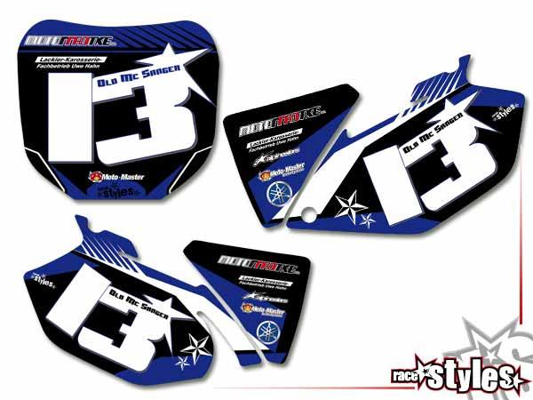 Factory-MX Startnummernfelder Dekor-Kit für YAMAHA YZ / YZF / WRF (125 250 450) Modelle 1990-1999, 2000-2020.