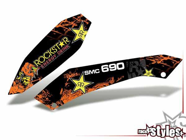Rockstar-MX Kühlerspoiler Dekor li./re. für KTM 690 SMC / SMC-R / ENDURO (2008-2017).Typenbezeichnungen, wie z.
