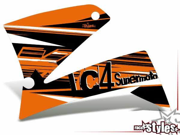 MX-Circuit Kühlerspoiler Dekor li./re. für KTM LC4 - SXC / SM / SMC / DUKE 620-660 (1998-2007).