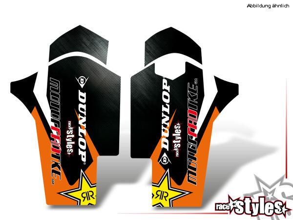 LTD.-Edition Gabelprotektoren Dekor li./re. für KTM SX / SX-F (2007-2010) und EXC / EXC-F / SMR (2008-2011).