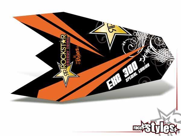 MX-Circuit Heckkotflügel Dekor für KTM SX / SX-F (2007-2010) und EXC / EXC-F / SMR (2008-2011).