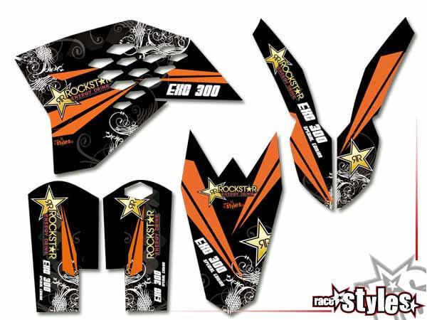 MX-Circuit Basic Dekor-Kit für KTM SX / SX-F (2007-2010) und EXC / EXC-F / SMR (2008-2011) bestehend aus Gabel