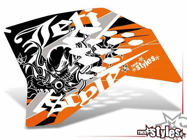 Skull-FMX Kühlerspoiler Dekor li./re. für KTM SX50 2002-2015 / SX65 2000-2015 / SX85 2000-2012.