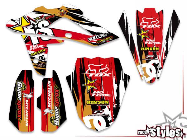 Basic Dekor-Kit für HUSQVARNA SM / SMR / WR / WRE / CR / TC / TE Modelle ab 2000-2013 bestehend aus