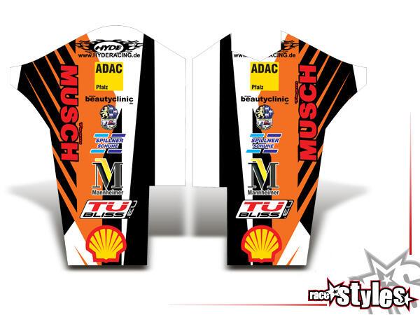 Factory-MX Gabelprotektoren Dekor li./re. für KTM SX / SX-F (2011-2012, 2013-2015) und EXC / EXC-F / SMR (2012
