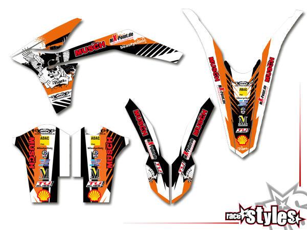 Factory-MX Basic Dekor-Kit für KTM SX / SX-F (2011-2012, 2013-2015) und EXC / EXC-F / SMR (2012-2013, 2014-201