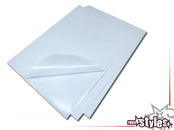 Schutzfolien-KIT (transparent, gelocht) bestehend aus 3 extrem belastbaren Crystall-Foliestücken. U